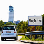 Car2go auf dem Weg von der Innenstadt zum Flughafen Wien