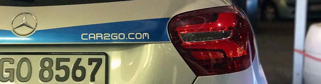 Mercedes-Benz A-Klasse mit car2go-Branding