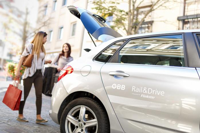 Shopping mit Auto von ÖBB Rail & Drive