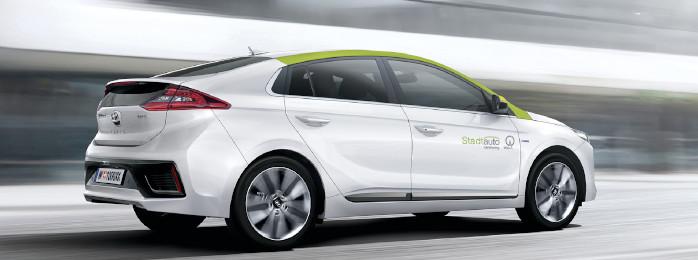 Hyundai IONIC Carsharing-Auto von Stadtauto